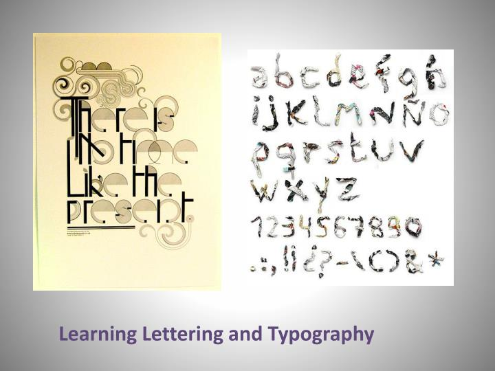 Learning Lettering and Typography