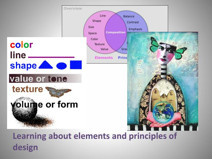 Learning about elements and principles of design