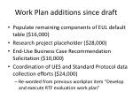 work plan additions since draft