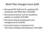 work plan changes since draft