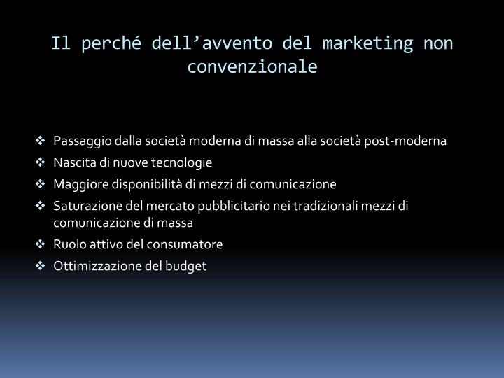 Il perch dell avvento del marketing non convenzionale