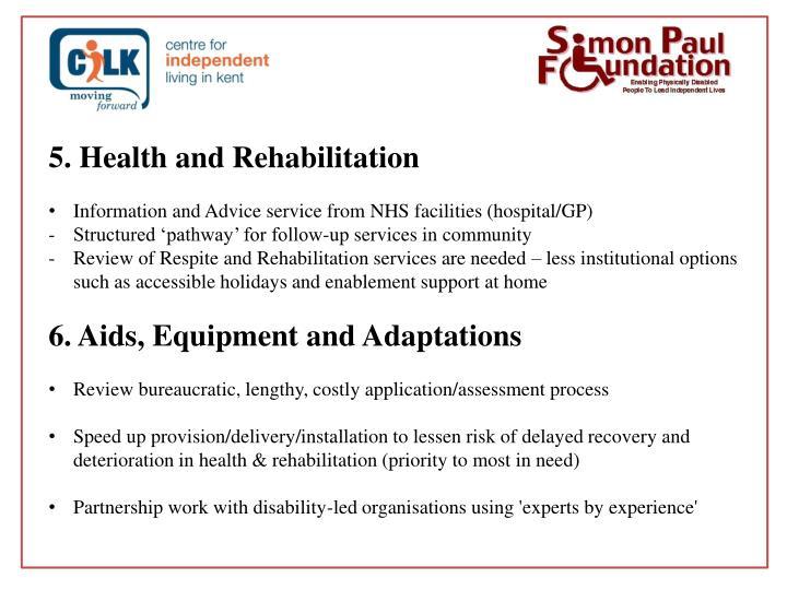 5. Health and Rehabilitation