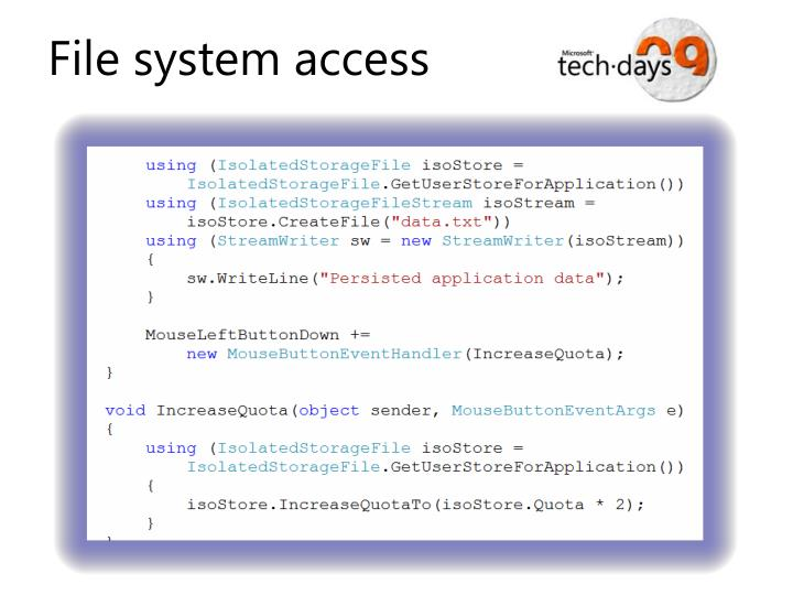 File system access