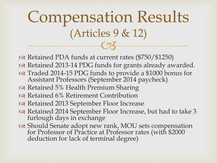 Compensation Results