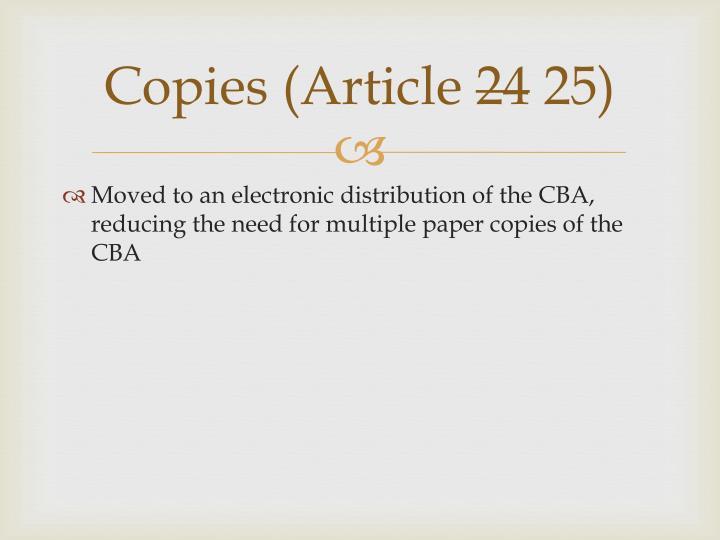 Copies (Article