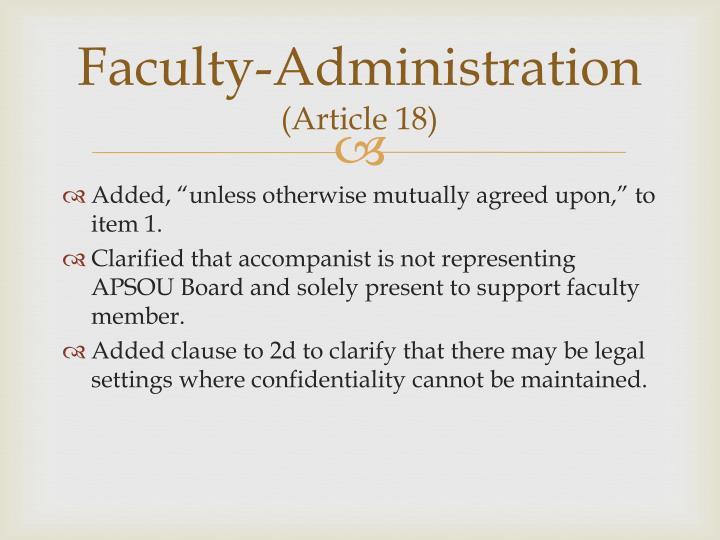 Faculty-Administration