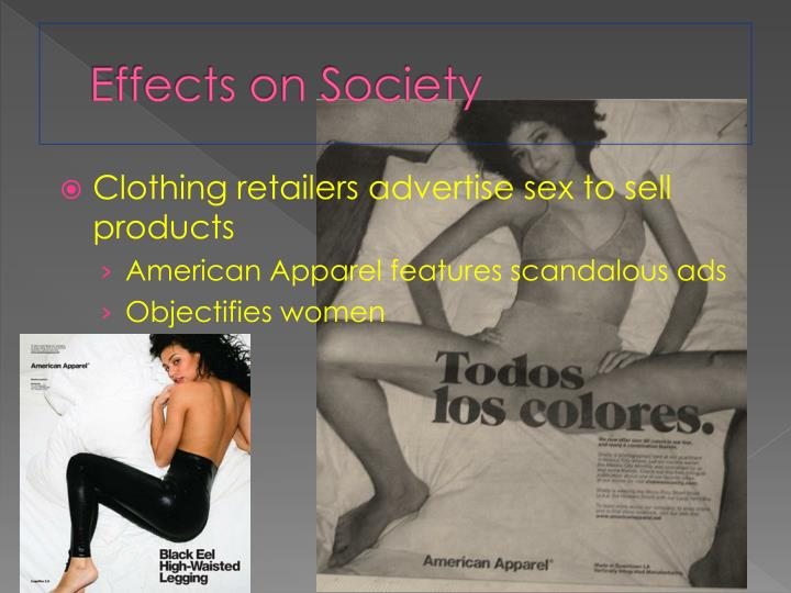advertisements affect on society