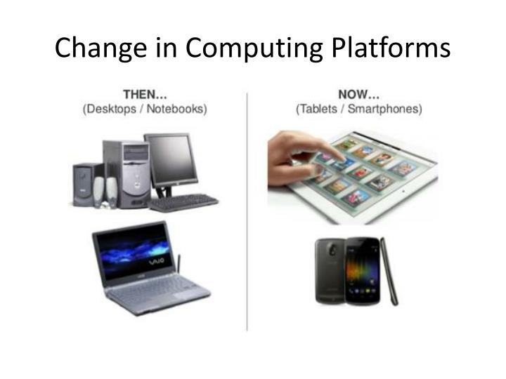 Change in Computing Platforms