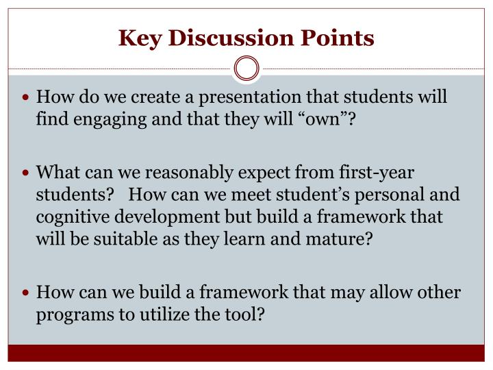 Key Discussion Points