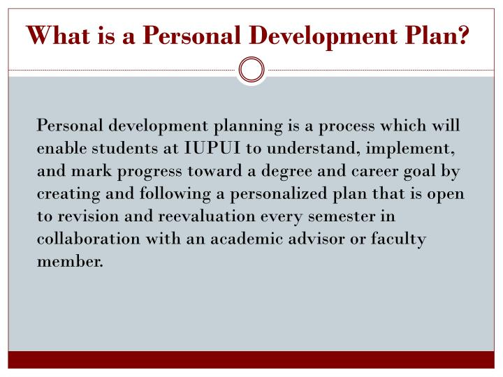 What is a Personal Development Plan?