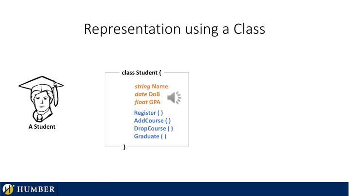 Representation using a Class