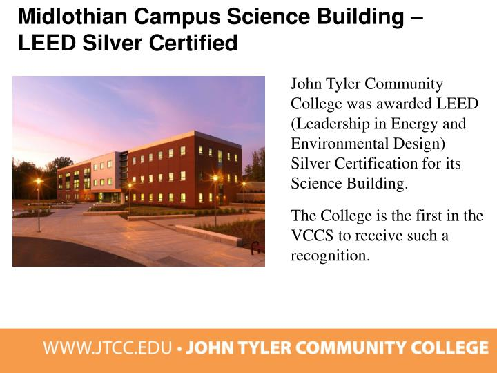 Midlothian Campus Science Building – LEED Silver Certified