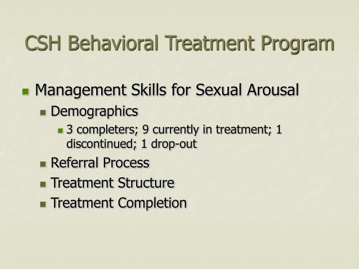 CSH Behavioral Treatment Program