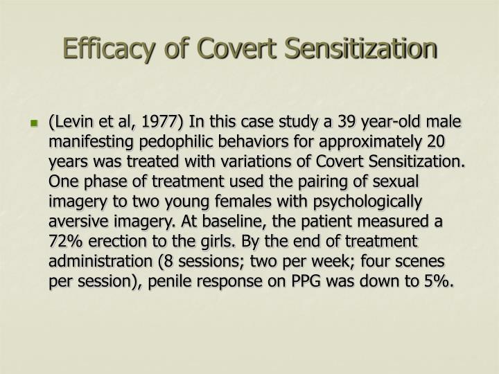 Efficacy of Covert Sensitization