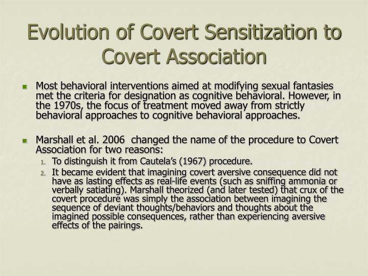 Evolution of Covert Sensitization to Covert Association