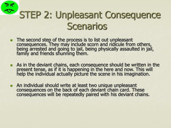 STEP 2: Unpleasant Consequence Scenarios