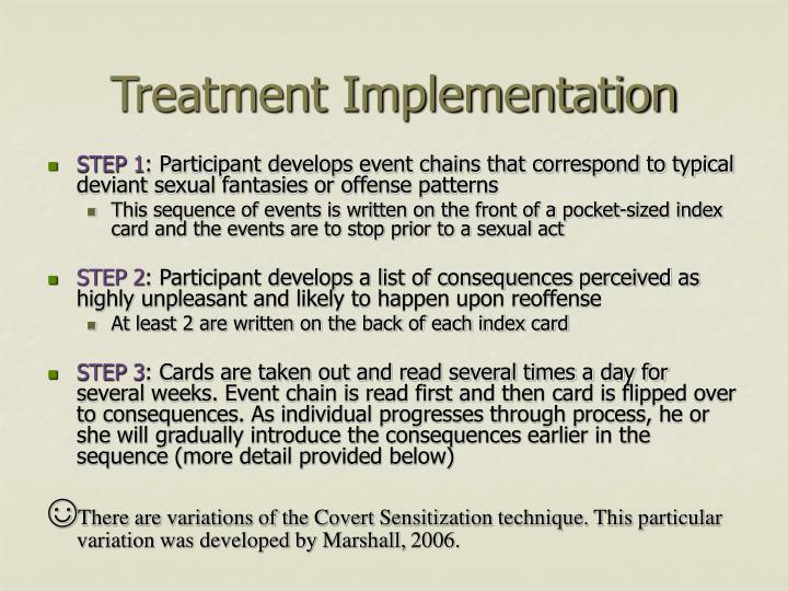 Treatment Implementation