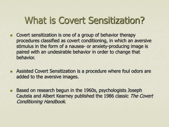 What is Covert Sensitization?