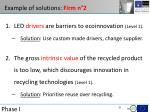 example of solutions firm n 2