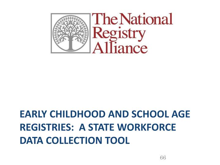Early Childhood and School Age Registries:  a State Workforce Data Collection Tool