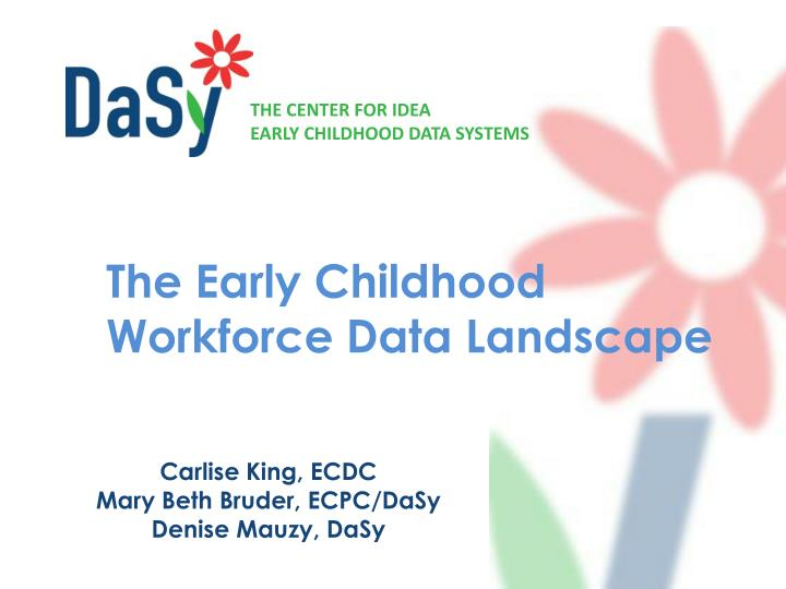 The early childhood workforce data landscape