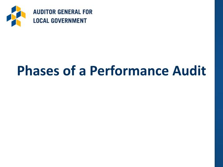 Phases of a Performance Audit