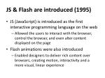 js flash are introduced 1995