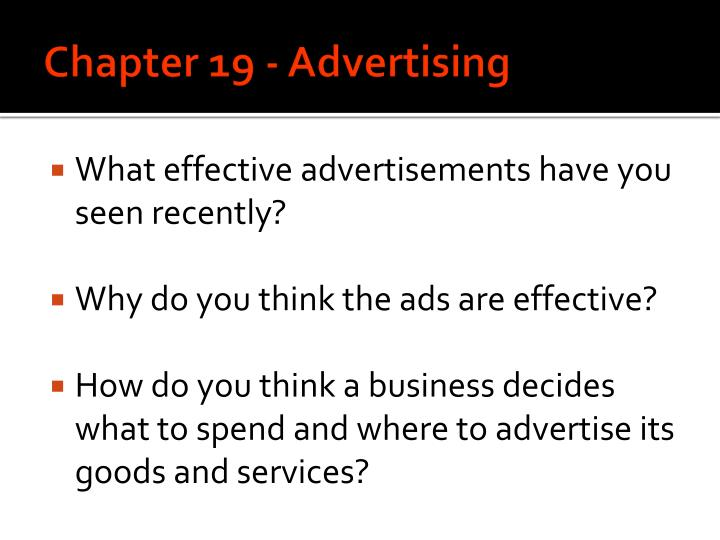 chapter 19 advertising n.