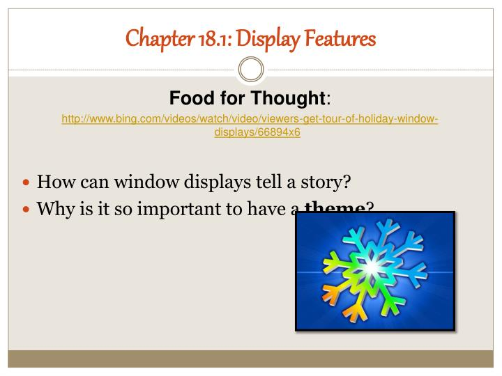 Chapter 18.1: Display Features