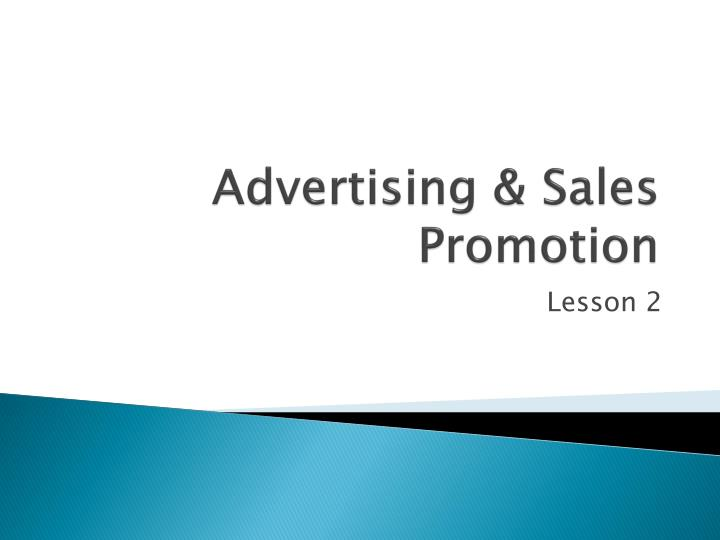 advertising sales promotion n.