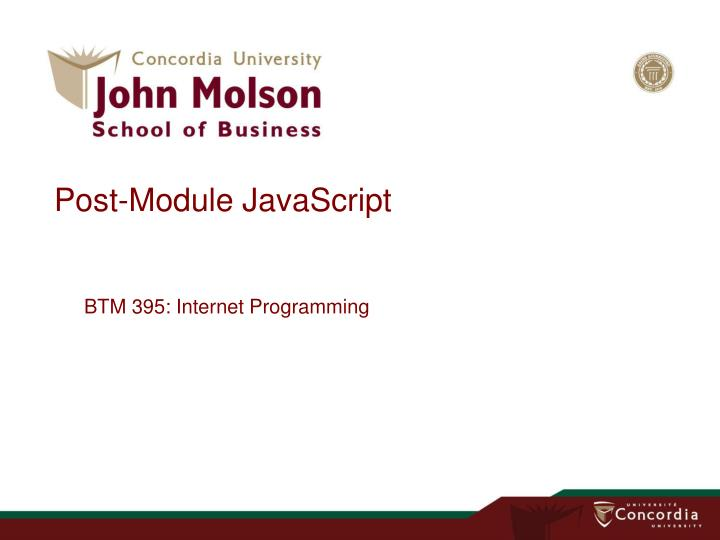Post module javascript