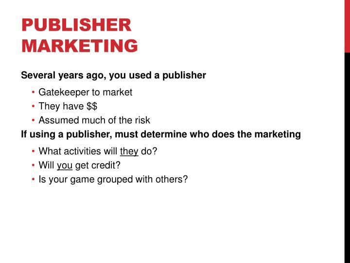 Publisher marketing