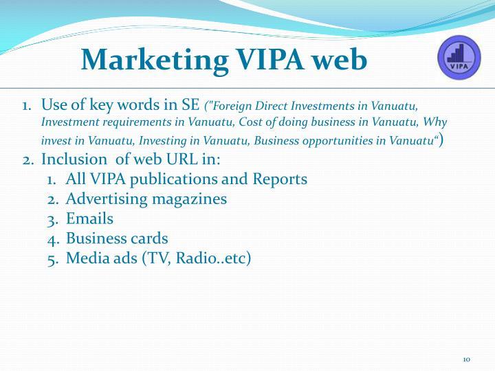 Marketing VIPA web