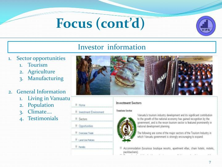 Focus (cont'd)