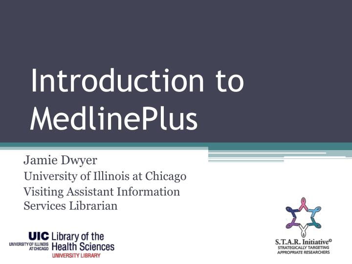 introduction to medlineplus n.