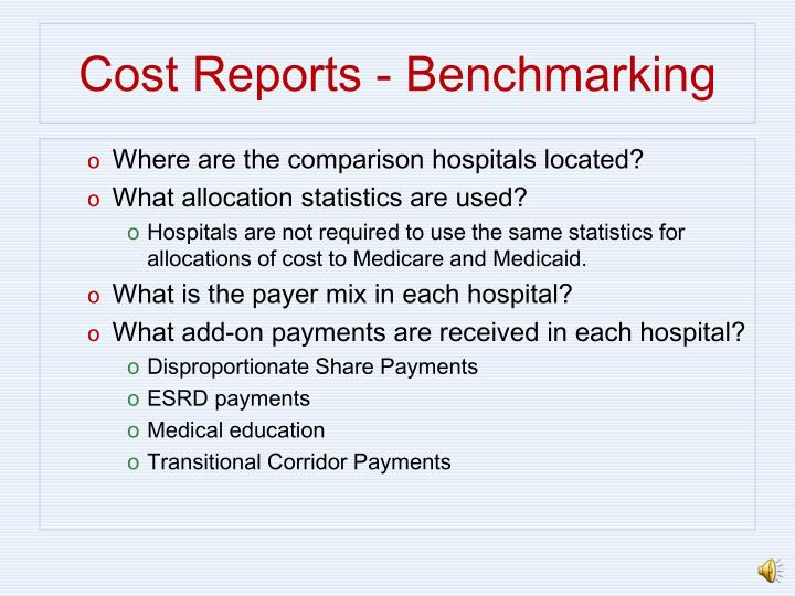 Cost Reports - Benchmarking
