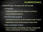 academy exams