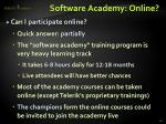 software academy online