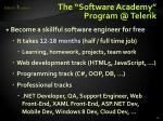 the software academy program @ telerik