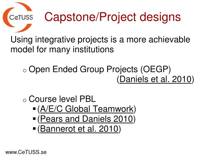 Using integrative projects is a more achievable model for many institutions