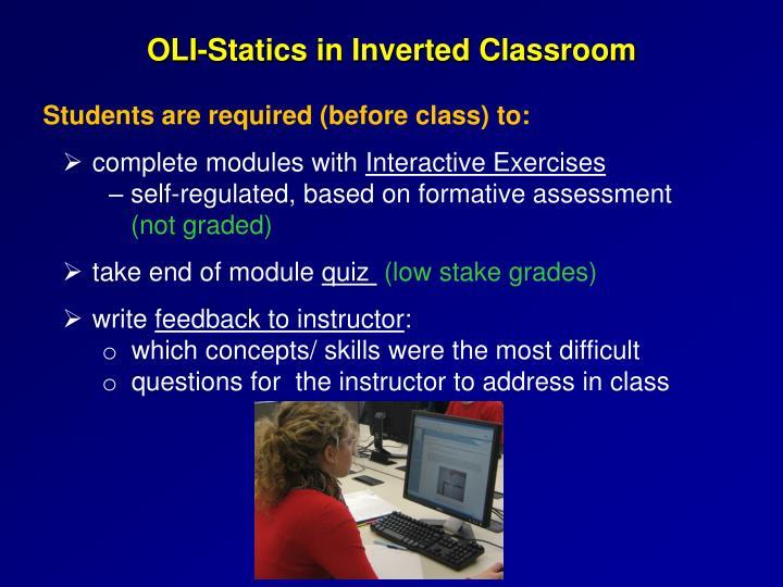OLI-Statics in Inverted Classroom