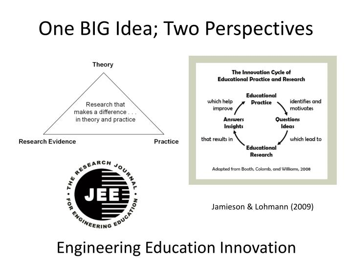 One big idea two perspectives