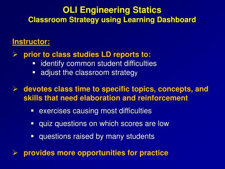 OLI Engineering Statics