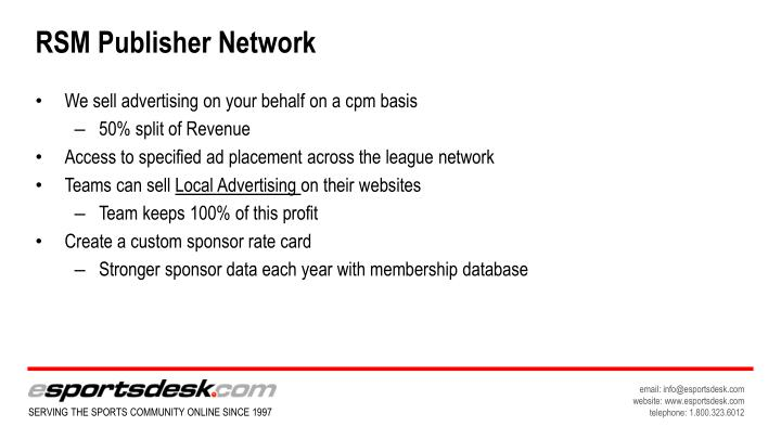 RSM Publisher Network
