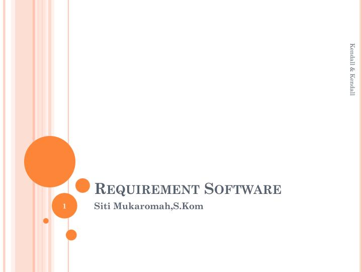requirement software n.