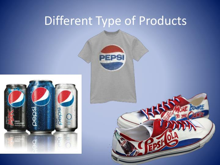 Different type of products