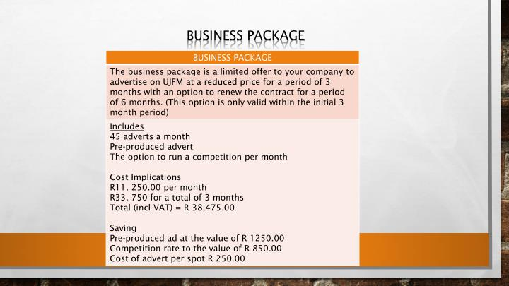Business package