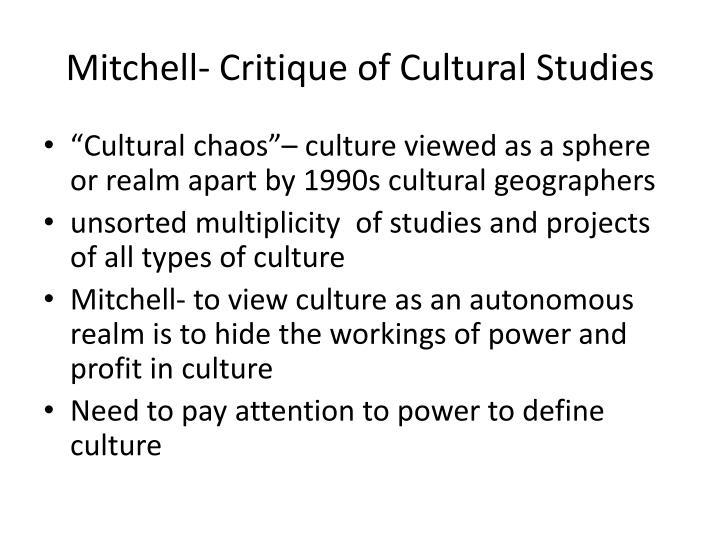 Mitchell critique of cultural studies