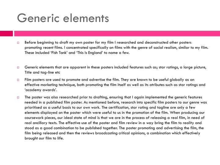 Generic elements