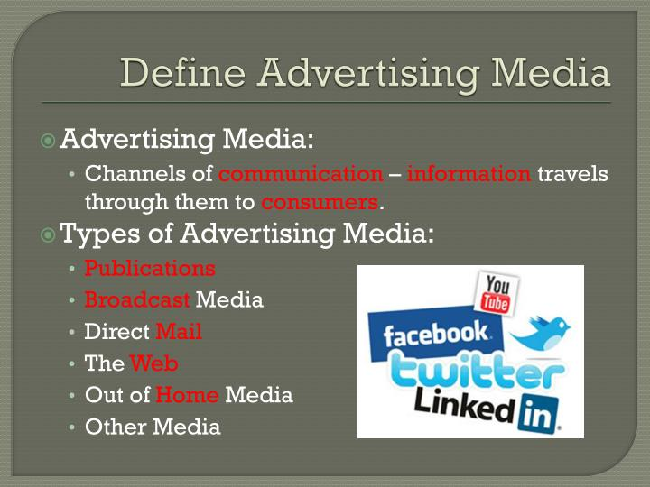 Define advertising media